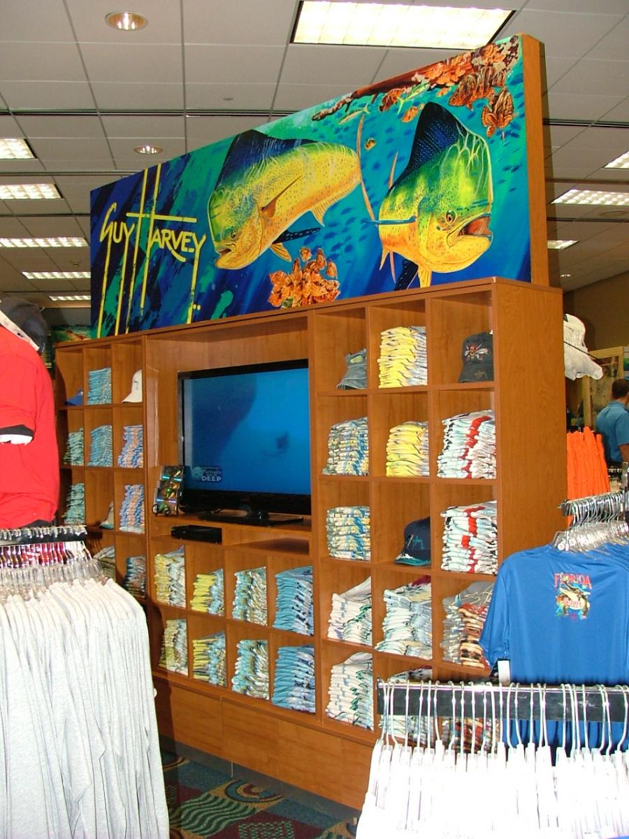 Guy Harvey T-Shirt Cubby Fixture